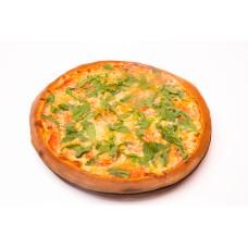Pizza Quatro Fromagi con Pomodori e Rucola Medie